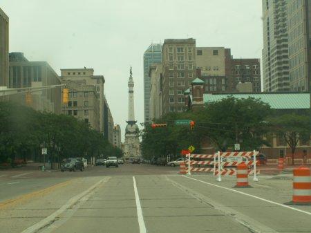 Von Indianapolis nach Chicago - größeres Bild durch Anklicken!